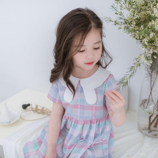 Newest Summer Kids Girls Pink Plain Dresses