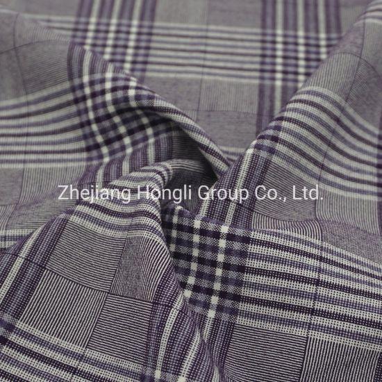 82% Polyester 14% Rayon 4% Spandex Check Tr Fabric