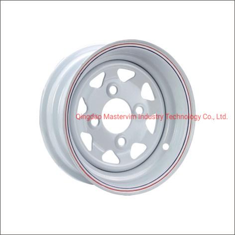 8 Spoke White Painting Trailer Wheels for 185r14c Tire