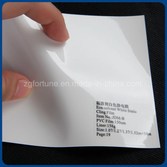 Advertising Materials Eco Solvent White Static Cling Film pictures & photos