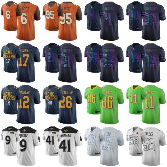 Wholesale N-F-L 2019 City Edition Wentz Brees Mayfield Football Jerseys
