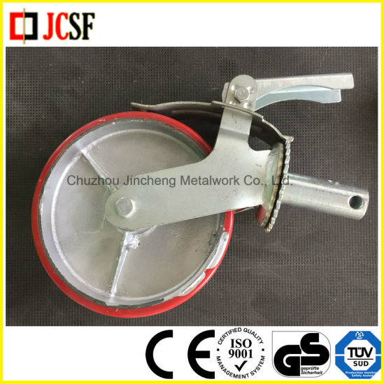 Industrial Caster Wheel with Brake and Plate for Scaffolding pictures & photos