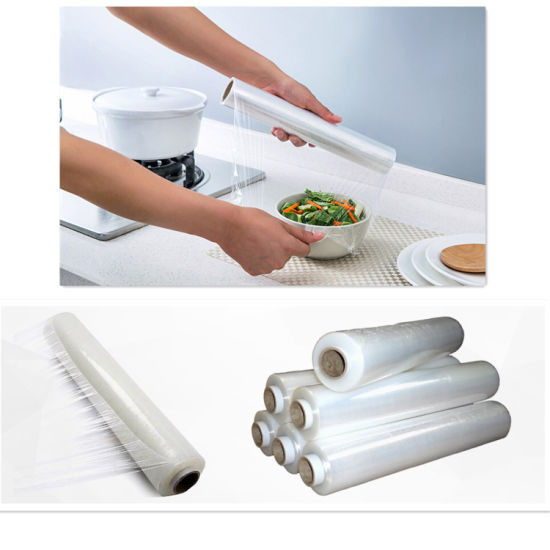 Factory Price LLDPE Transparent Stretch Cling Wrap Packing Roll Film pictures & photos