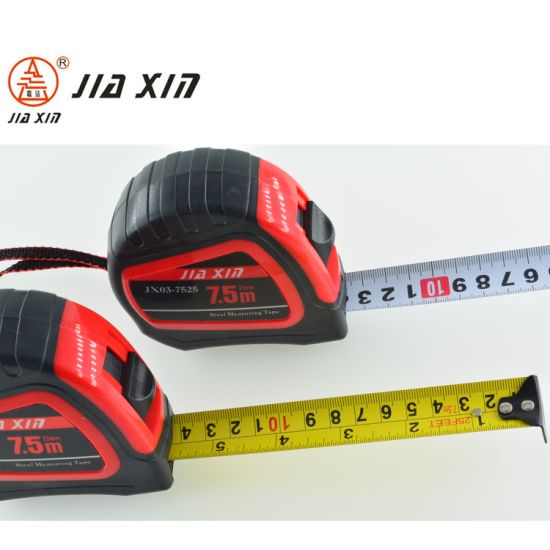 ABS+TPR Auto Lock Steel Tape Measure with Nylon Coated Dual Blade pictures & photos