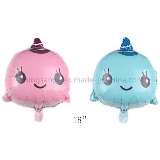 Dto0196 18inch Dolphin Head Balloons