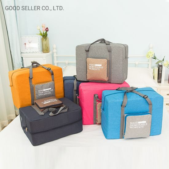 Foldable Travel Duffel Bag Luggage Sports Gym Water Resistant Bag