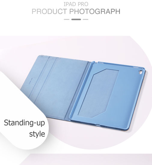 Simplicity Natural Wood Graining PU Leather 12.9 Inch Tablet Case pictures & photos
