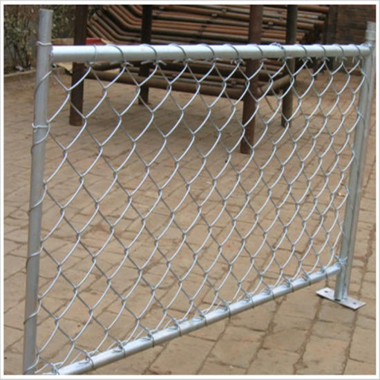 Galvanized Temporary Chain Link Fence, Us Standerd Removable Temporary Fence pictures & photos