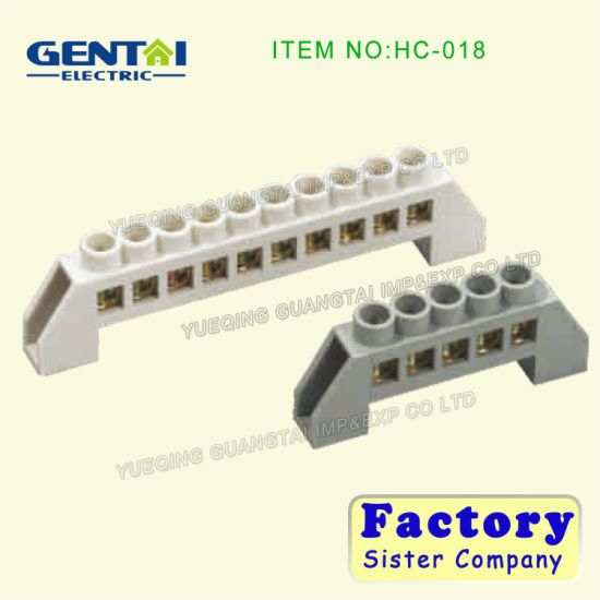 Good Quality PE Material Terminal Block with Brass Screw