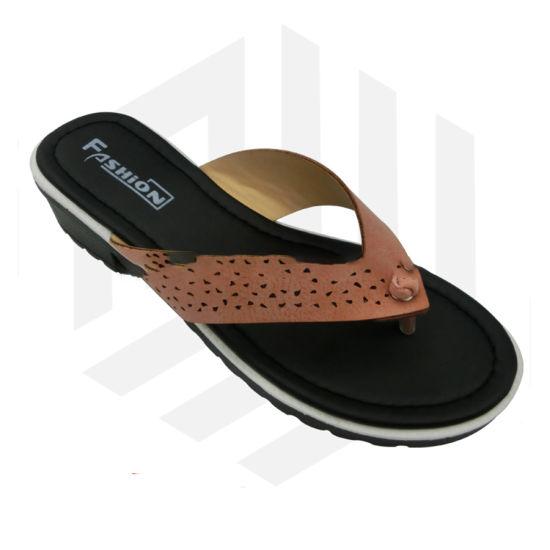 Casual Woman Flip Flop Slippers Ladies PU