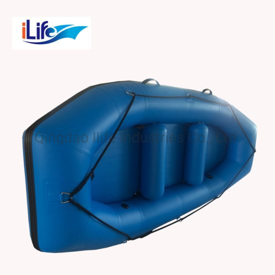 Ilife 3.0m PVC/Hypalon Inflatable White Water Raft Boat Fishing Whitewater River I-Beam Floor Self Baling Paddle Rafting