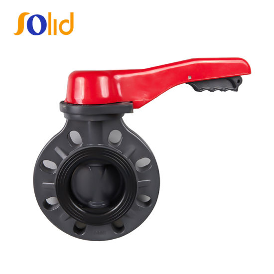 Manual Hand Lever Plastic CPVC PVC UPVC Butterfly Valve pictures & photos