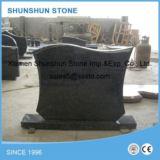 Wholesale Hungarian Style Black Granite Headstones pictures & photos