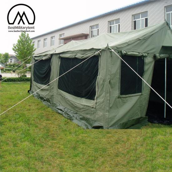 5 5X5 5m Army Waterproof Cotton Canvas Tent with Stove Jack