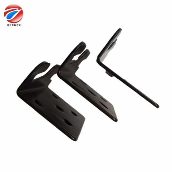 OEM CNC Stamping Parts Customized Sheet Metal Fabricating Black Anodized Aluminum Bracket