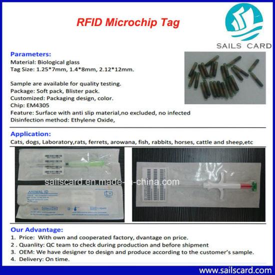 Pet Ear Tag ID Information Implant RFID Microchip Glass Tube
