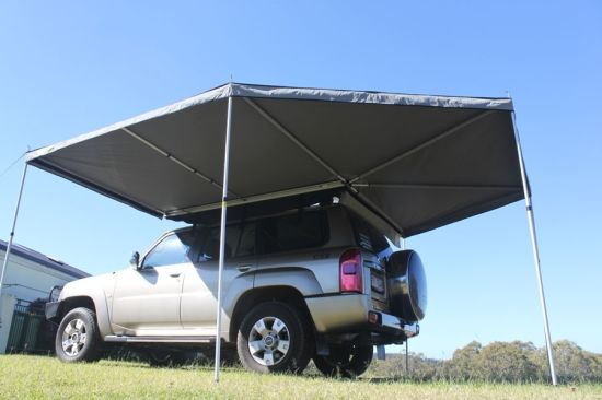 Retractable Camping Car Side Rain Round Awning For Sale
