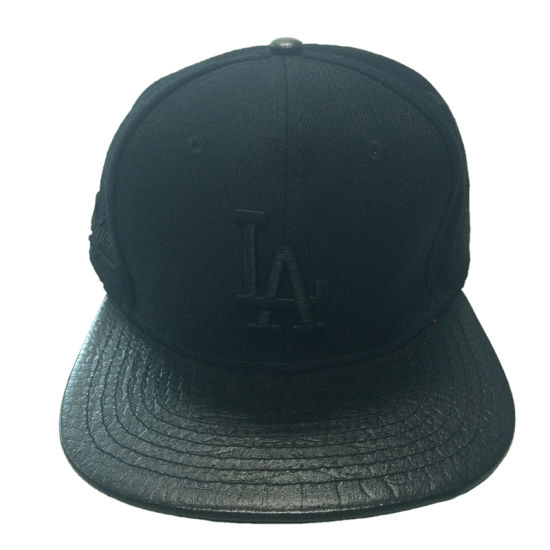 866ef0c680b03 Custom Black 6 Panel Leisure Cap Flat Brim Plain Baseball Hat Racing Sports  Cap
