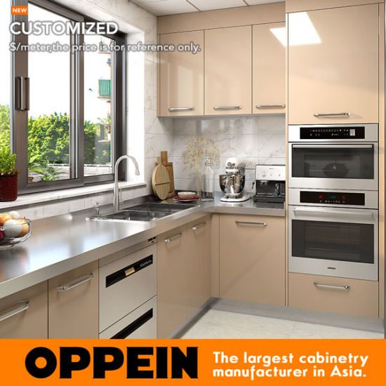 Oppein Wet and Dry Stainless Steel Kitchen Cabinet with Stainless Steel Countertop (OP17-ST02