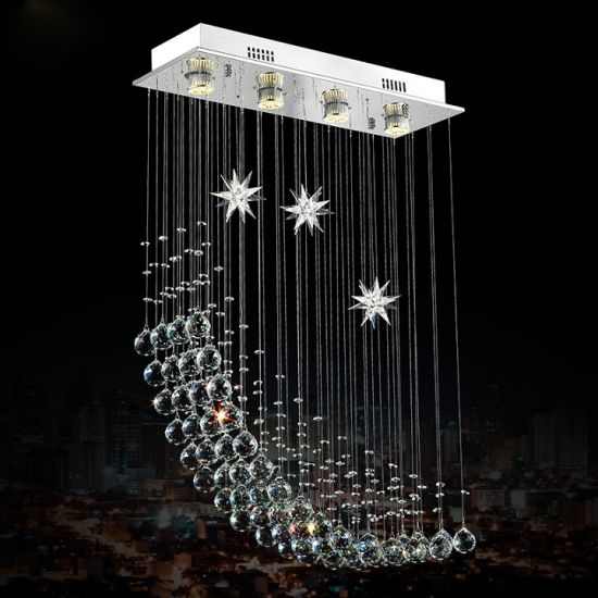 China Modern Star And Moon Shape Crystal Chandeliers For