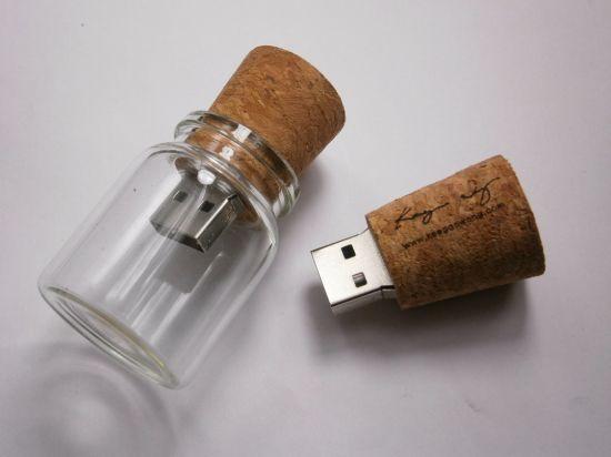 New Lovely Glass Drift Bottle 1/2/4/8GB USB 2.0 Memory Flash Stick Pen Drive