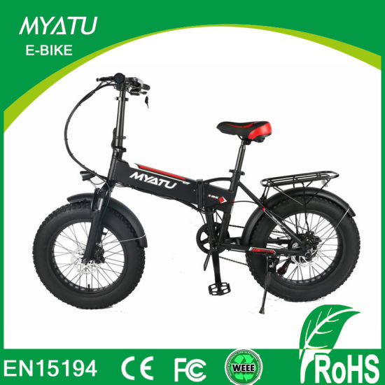 20 Inch Fat Tire Electric Hybrid Bikes/ Dirt Bike with Hidden Battery pictures & photos