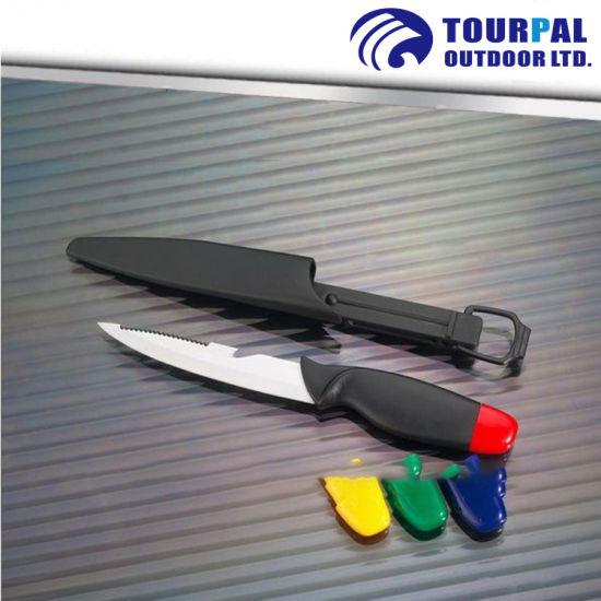 Stainless Steel Blade Floating Fishing Knife 5'' Plastic Handle Knife