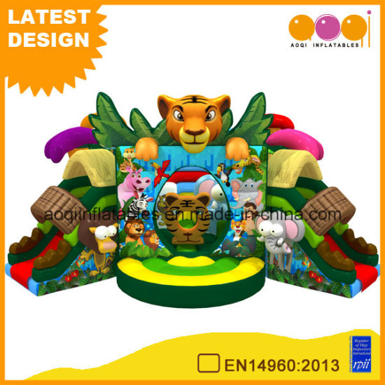Kindergarten Inflatable Animal Toy Inflatable Tiger Bouncer Children Outdoor Inflatable Playground Combo (AQ01765) pictures & photos