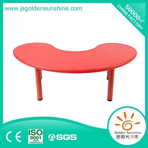 New Design Children's Moon Shape Plastic Table/Kids Furniture
