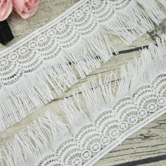 Embroidery Design Polyester Fringe Lace Trimming for Dress