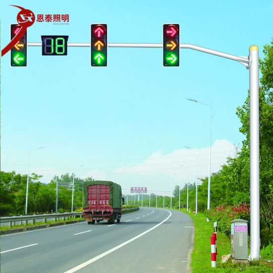 Traffic Safety Signal Lights Traffic Warning Light Pole Controller