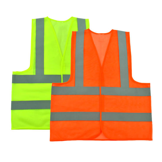 Wholesale Cheap Knitted Fabric Reflector Reflective Safety Vest
