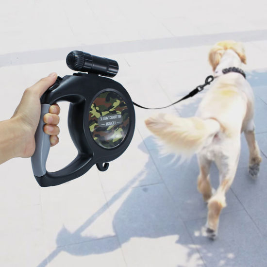 Heavy Duty Retractable Dog Leash with LED Flash