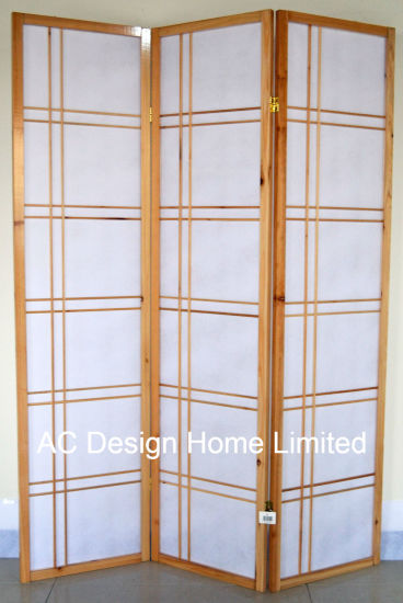 Natural Color Rice Paper Non Woven And Wooden Anese Style Folding Shoji Screen Room Divider X 3 Panel