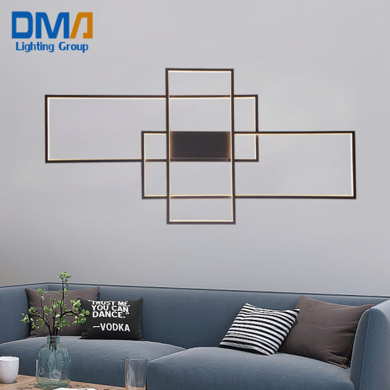 Wholesale Home Decorative Square Frame LED Acrylic Wall Lamp Indoor Pendant Hanging Chandelier Lighting