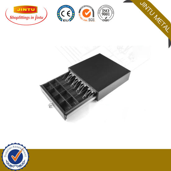 Metal Mini POS Manual Push Open Cash Register Drawer Lock Box Safe