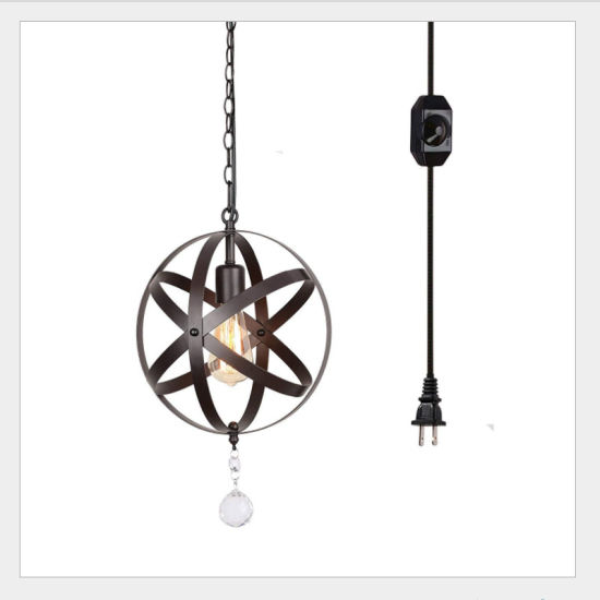 Retro Industrial Style Wrought Iron Flower-Shape Pendant Lights
