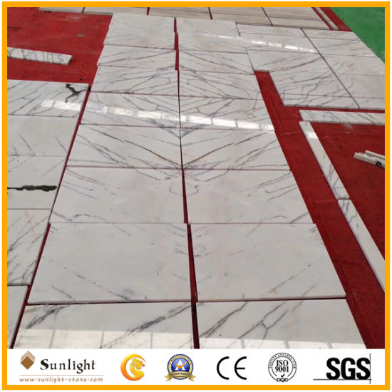 China Cheap Polished White Milas Lilac Marble For Tiles Flooring