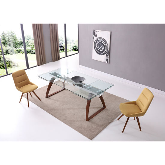 China Suppliers Furniture Clear Glass Modern Wooden Dining Table Furniture China Wooden Dining Table Set China Suppliers Furniture Dining Table