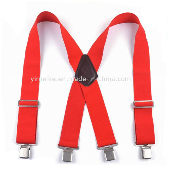 Garment Accessories Custom Men Heavy Duty X Elastic Suspender