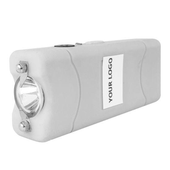 801 Stun Gun Mini 800 Type Stun Guns Self Defence Electric Shock Taser with Flashlight White