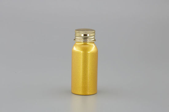 Golden Small Aluminum Bottle with Cap pictures & photos