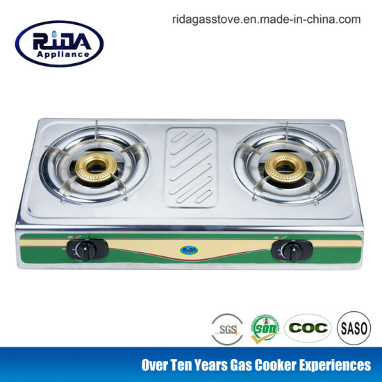 Low Price Brass Cap Set Double Burner Gas Cooker
