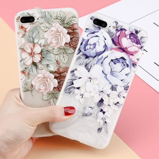 3D Embossed Retro Flower Mobile/Cell Phone Cover/Case for iPhone pictures & photos