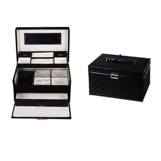 Classic Pink Store Package PU Leather Jewelry Box (8684)