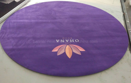 Custom Full Color Printing Round Yoga Mat with Thickness 4mm pictures & photos