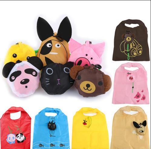 Eco Travel Foldable Handbag Grocery Storage Reusable Animal Shopping Bag