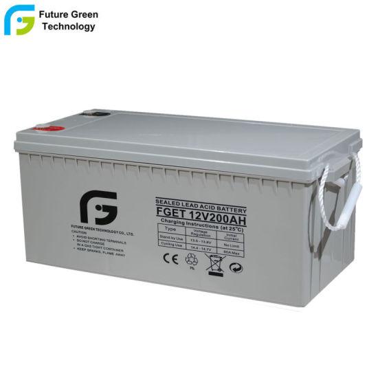 12V 200ah Maintenance Free Deep Cycle Solar Power Battery