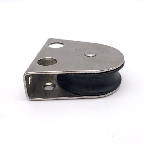 Stainless Steel Fixed Nylon Pulley Single Sheave Pulley Marine Accessories