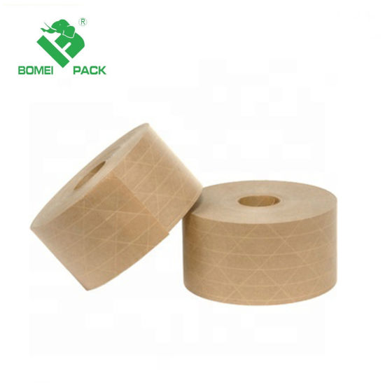 china wholesale water activated reinforced adhesive kraft paper